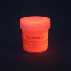 Краска флуоресцентная AcmeLight для творчества красная 20 мл - изображение 4 - интернет-магазин tricolor.com.ua
