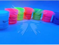 Краска флуоресцентная AcmeLight для творчества красная 20мл - изображение 2 - интернет-магазин tricolor.com.ua