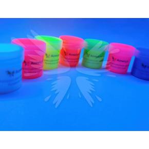 Краска флуоресцентная AcmeLight для творчества красная 20 мл - изображение 2 - интернет-магазин tricolor.com.ua