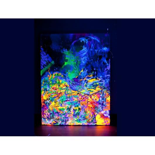 Краска флуоресцентная AcmeLight для творчества зеленая 20мл - интернет-магазин tricolor.com.ua
