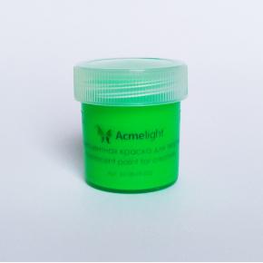 Краска флуоресцентная AcmeLight для творчества зеленая 20мл - изображение 4 - интернет-магазин tricolor.com.ua