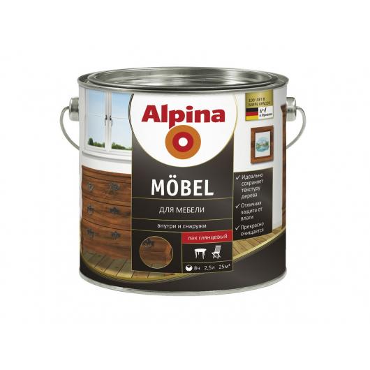 Лак алкидный мебельный Alpina Möbel GL глянцевый