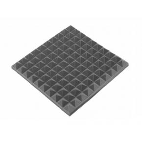 Акустическая панель пирамида 50 мм 50х50 см Mini,черный графит