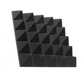 Акустическая панель пирамида 70 мм 45х45 см Pyramid Gain Black