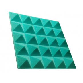 Акустическая панель пирамида 50 мм 45х45 см Pyramid Gain Green