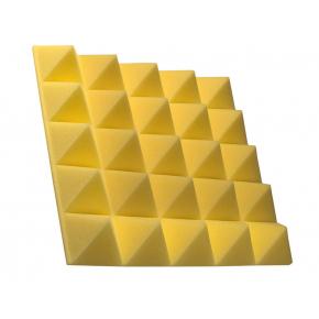 Акустическая панель пирамида 30 мм 45х45 см Pyramid Gain Yellow - интернет-магазин tricolor.com.ua