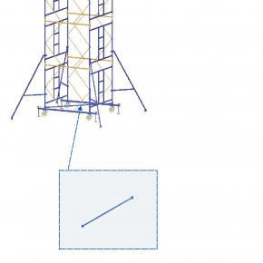 Элемент подмостей Будмайстер диагональ основная 2,545 м MSM L254 - интернет-магазин tricolor.com.ua