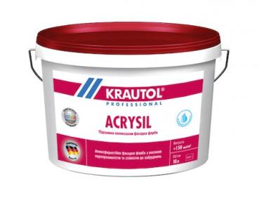 Краска фасадная силикон-модифицированная Krautol Acrysil B1 белая