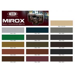 Краска декоративная с металлическим эффектом 3 в 1 Mixon Mirox коричневая 8016 - изображение 2 - интернет-магазин tricolor.com.ua