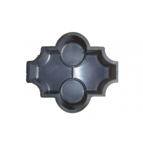Форма для тротуарной плитки MA Конюшина с кольцами 26,7*21,8*6