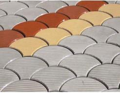 Форма для тротуарной плитки МАО Чешуя с полосами 24*18*6 - изображение 4 - интернет-магазин tricolor.com.ua