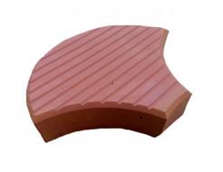 Форма для тротуарной плитки МАО Чешуя с полосами 24*18*6 - изображение 2 - интернет-магазин tricolor.com.ua