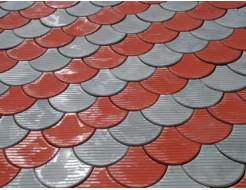 Форма для тротуарной плитки МАО Чешуя с полосами 24*18*6 - изображение 5 - интернет-магазин tricolor.com.ua