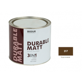 Антикоррозионная матовая краска-грунт Biodur 3 в 1, 217 Коричневая