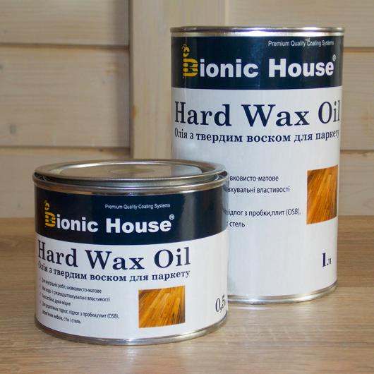 Масло для пола Hard Wax Oil Bionic House Грей - изображение 2 - интернет-магазин tricolor.com.ua