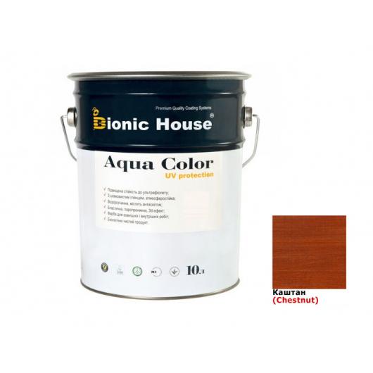 Акриловая лазурь Aqua color – UV protect Bionic House (каштан) - интернет-магазин tricolor.com.ua