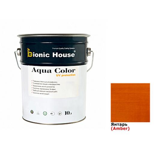 Акриловая лазурь Aqua color – UV protect Bionic House (янтарь)