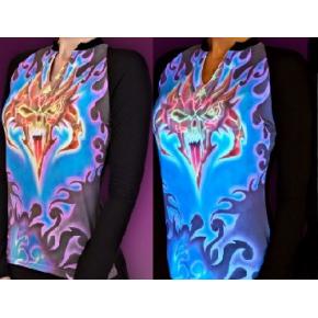 Краска люминесцентная AcmeLight Textile для ткани оранжевая - интернет-магазин tricolor.com.ua