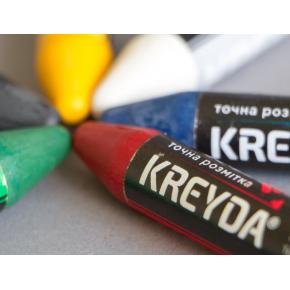 Набор мелков для маркировки на основе воска Kreyda универсальные 12 шт (красные) - изображение 2 - интернет-магазин tricolor.com.ua