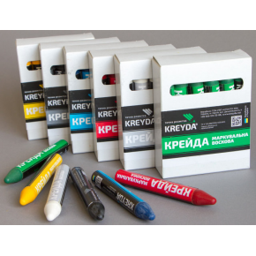 Набор мелков для маркировки на основе воска Kreyda универсальные 12 шт (зеленые) - изображение 3 - интернет-магазин tricolor.com.ua