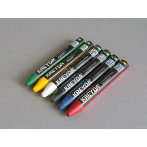 Набор мелков для маркировки на основе воска Kreyda универсальные 12 шт (черные) - изображение 3 - интернет-магазин tricolor.com.ua