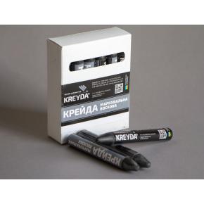Набор мелков для маркировки на основе воска Kreyda универсальные 12 шт (черные) - интернет-магазин tricolor.com.ua