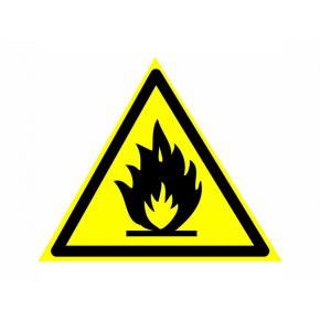 Знак предупреждающий фотолюминесцентный треугольный W 01
