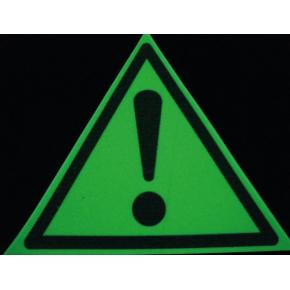 Знак предупреждающий фотолюминесцентный треугольный W 09 - изображение 2 - интернет-магазин tricolor.com.ua