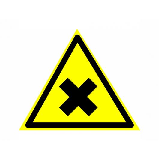 Знак предупреждающий фотолюминесцентный треугольный W 18