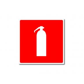 Знак пожарной безопасности фотолюминесцентный квадратный F 04 (самокл. пленка)