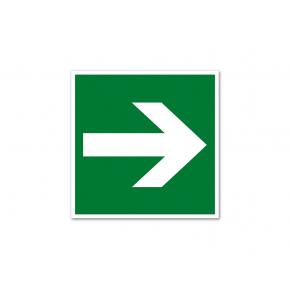 Знак эвакуационный фотолюминесцентный квадратный E 02-01 (ПВХ)