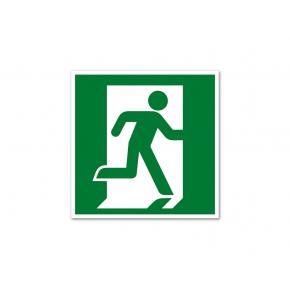 Знак эвакуационный фотолюминесцентный квадратный E 01-02 (самокл. пленка)