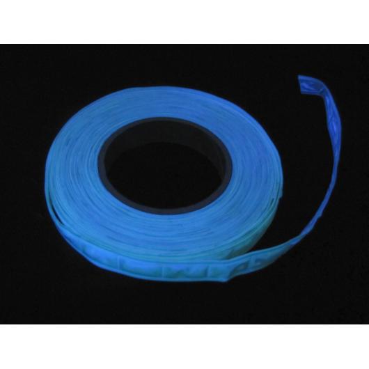 Лента светоотражающая фотолюминесцентная пришивная с голубым свечением 2,5 см - изображение 2 - интернет-магазин tricolor.com.ua