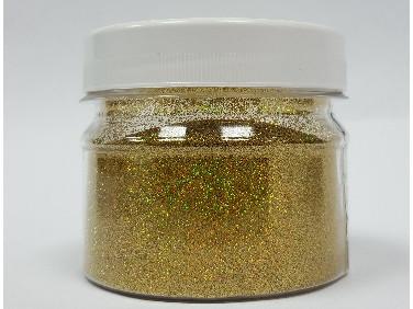Купить Глиттер голографический золотой Tricolor GGGO/0,2 мм (1/128)