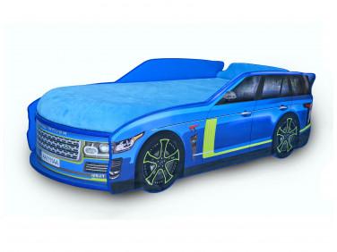 Кровать машина Джип Range Rover синяя 80х170 ДСП
