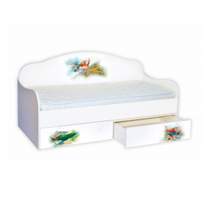 Кроватка диванчик Самолет 80х160 ДСП