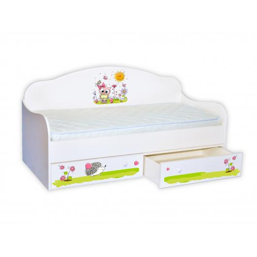 Кроватка диванчик Совенок 80х190 ДСП
