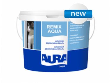 Эмаль акриловая глянцевая универсальная Aura Luxpro Remix Aqua АКЦИЯ!