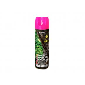 Флуоресцентная аэрозольная краска для маркировки леса Biodur Forest Marking Spray (розовая) - интернет-магазин tricolor.com.ua
