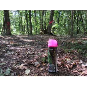 Флуоресцентная аэрозольная краска для маркировки леса Biodur Forest Marking Spray (розовая) - изображение 7 - интернет-магазин tricolor.com.ua