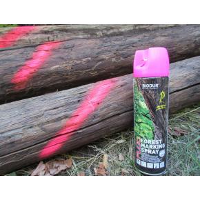 Флуоресцентная аэрозольная краска для маркировки леса Biodur Forest Marking Spray (розовая) - изображение 6 - интернет-магазин tricolor.com.ua