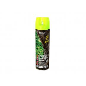 Флуоресцентная аэрозольная краска для маркировки леса Biodur Forest Marking Spray (желтая) - интернет-магазин tricolor.com.ua