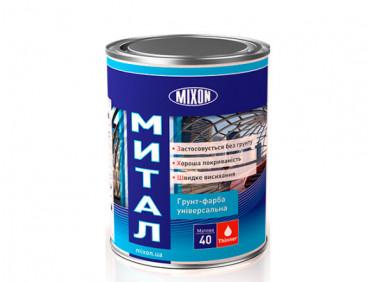 Краска-грунт алкидная Mixon Митал по металлу бесцветная полуматовая