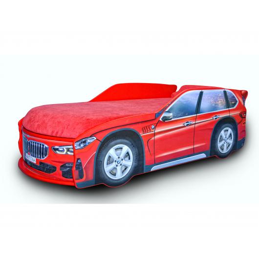 Кровать машина Джип BMW X5 красная 80х170 ДСП с подъемным механизмом - интернет-магазин tricolor.com.ua