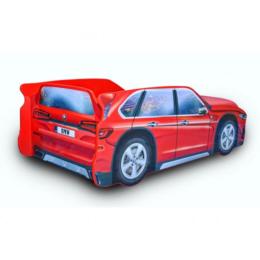 Кровать машина Джип BMW X5 красная 80х170 ДСП с подъемным механизмом - изображение 2 - интернет-магазин tricolor.com.ua