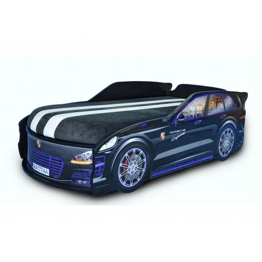 Кровать машина Джип Porsche черная 80х180 ДСП - интернет-магазин tricolor.com.ua