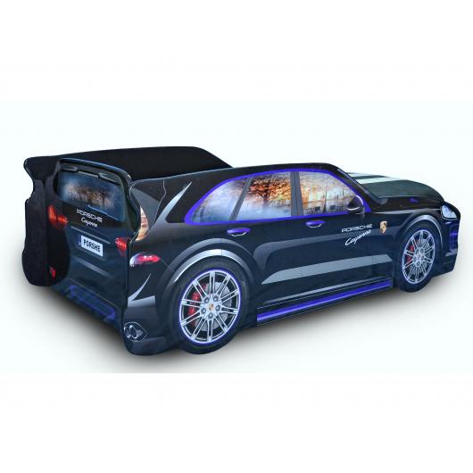 Кровать машина Джип Porsche черная 80х180 ДСП - изображение 2 - интернет-магазин tricolor.com.ua