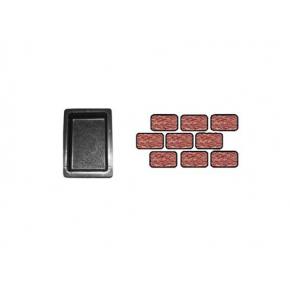 Форма для тротуарной плитки «Брук шагрень одинарный» 18x12x6 AX