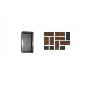Форма для тротуарной плитки «Кирпич шагрень» 20x10x6 AX