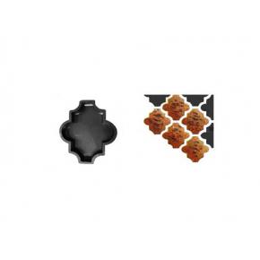 Форма для тротуарной плитки «Клевер шагрень» 26,7x21,8x4,5 AX